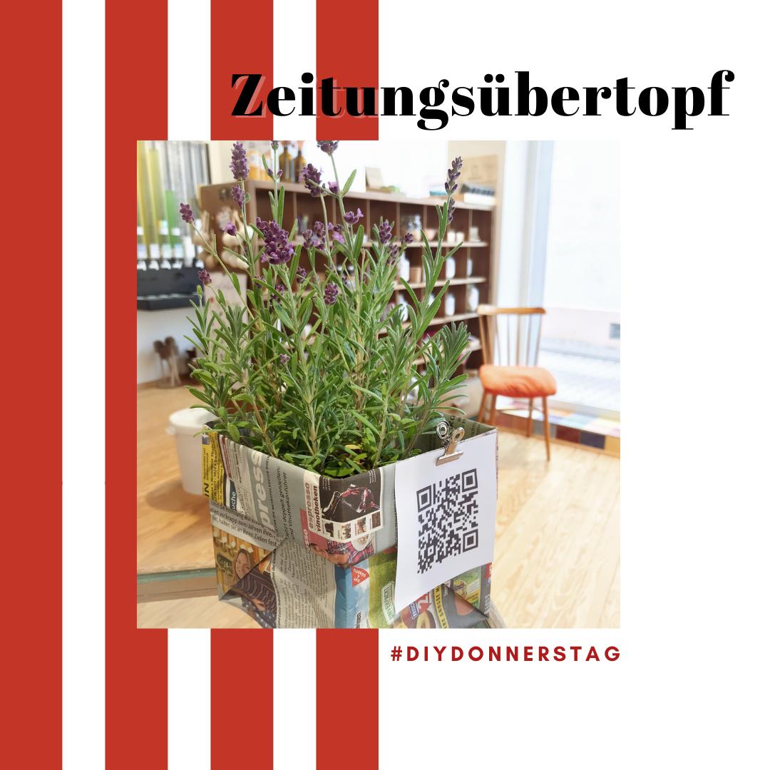 Zeitungsübertopf